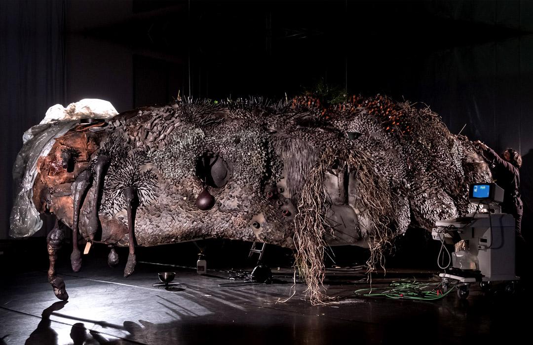 Hundun, last preparations, Biennale für Musiktheater, Muffatwerk (c)Franz Kimmel