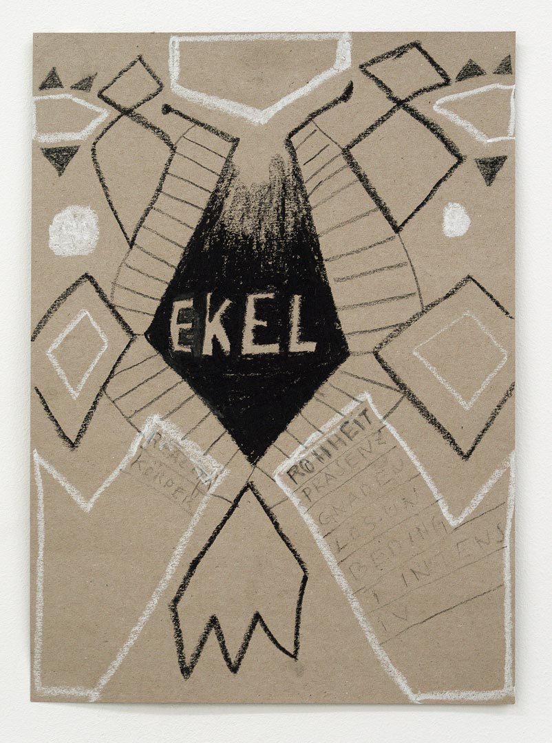 Ekel/revulsion I 2018 I oil pasltell, chalk, pencil I 32 x 22 cm