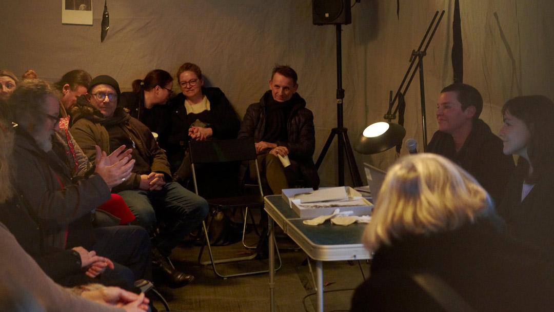 ©Barbara_Hartmann_Lauschen&Lauern, talk with Laura Sánchez-Serrano