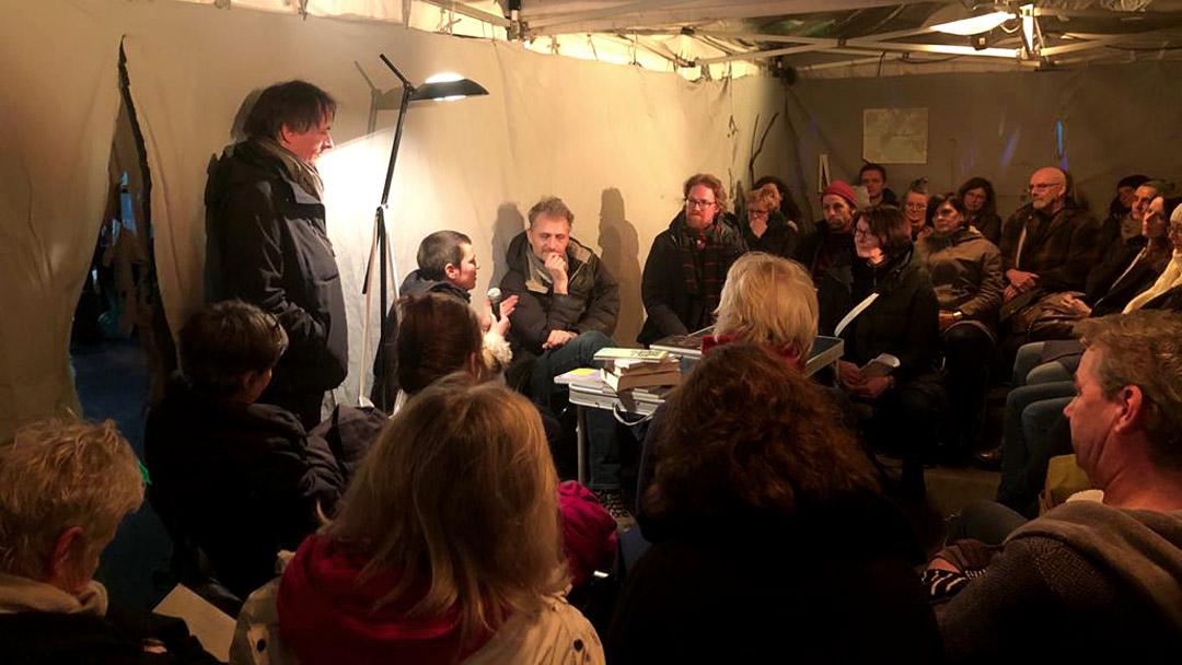 Lauschen&Lauern, Talk with Andreas Weber, Diana Ebster, Rasmus Kleine und Judith Egger, Foto: Anja Gerscher